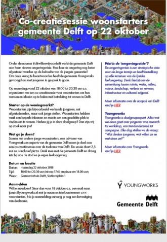 Co-creatiesessie woonstarters gemeente Delft op 22 oktober
